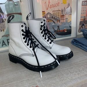 Brand new white doc martens